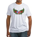 Texas Heart with Wings Fitted T-Shirt