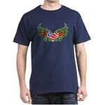 Texas Heart with Wings Dark T-Shirt