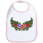 Texas Heart with Wings Bib