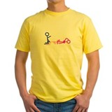 Poly Mens Classic Yellow T-Shirts