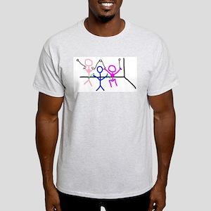 Stick figure 9 Ash Grey T-Shirt