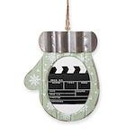 Movie Film video clapperboard design Mitten Orname