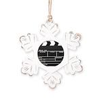 Movie Film video clapperboard design Rustic Snowfl