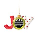 Movie Film video clapperboard design Joy Ornament