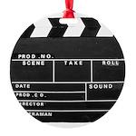 Movie Film video clapperboard design Round Ornamen