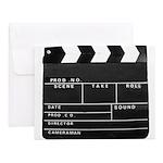 Movie Film video clapperboard design Notecards (Se