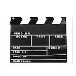 Movie Film video clapperboard design Postcards (Pa