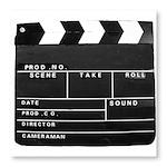 Movie Film video clapperboard design Photo Wall Ti