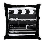 Movie Film video clapperboard design Throw Pillow