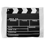 Movie Film video clapperboard design Pillow Sham