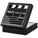 Movie Film video clapperboard design Keepsake Box