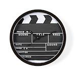Movie Film video clapperboard design Wall Clock
