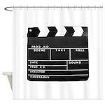 Movie Film video clapperboard design Shower Curtai