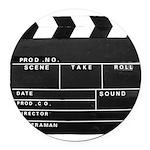 Movie Film video clapperboard design Round Car Mag