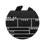 """Movie Film video clapperboard design 3.5"""" Button"""