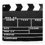 Movie Film video clapperboard design Square Car Ma