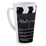 Movie Film video clapperboard design 17 oz Latte M