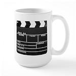 Movie Film video clapperboard design Mugs