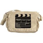 Movie Film video clapperboard design Messenger Bag