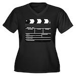 Movie Film video clapperboard design Plus Size T-S