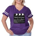 Movie Film video clapperboard design Women's Plus