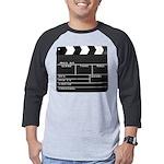 Movie Film video clapperboard design Mens Baseball