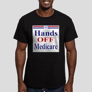 Hands OFF Medicare Men's Fitted T-Shirt (dark)