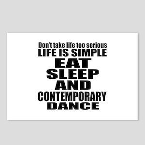 Life Is Simple Eat Sleep Postcards (Package of 8)