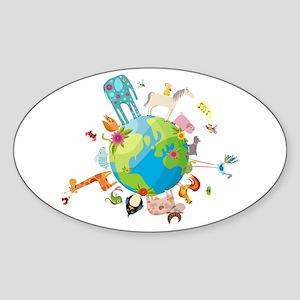 Animal Planet Sticker (Oval)