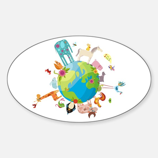 Animal Planet Sticker (Oval)