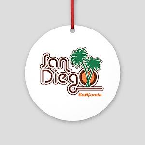 San Diego CA Round Ornament
