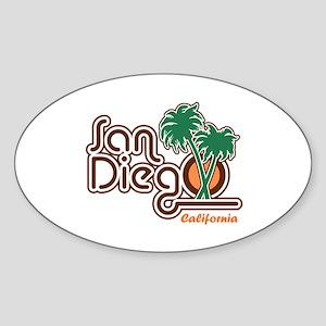 San Diego CA Sticker (Oval)