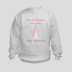 Princess Personalized Birthda Kids Sweatshirt