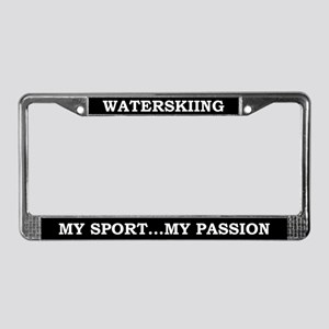 Waterskiing My Passion License Plate Frame