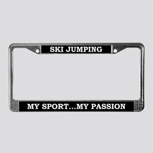 Ski Jumping My Sport License Plate Frame