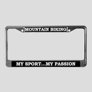 Mt. Biking License Plate Frame