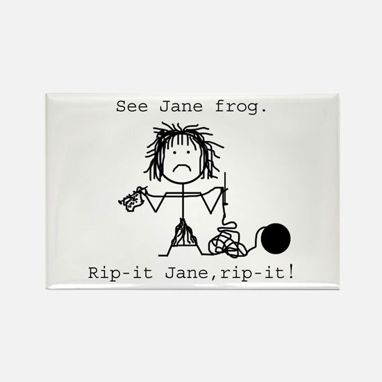 SEE JANE FROG: Rectangle Magnet