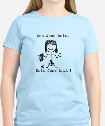 SEE JANE KNIT/SEE JANE FROG: Women's Pink T-Shirt