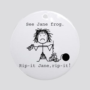 SEE JANE FROG: Ornament (Round)