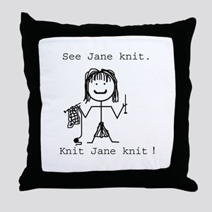 SEE JANE KNIT: Throw Pillow
