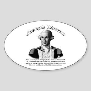 Joseph Warren 01 Oval Sticker