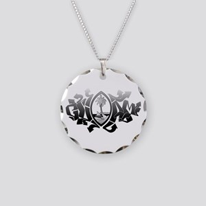 Guam Graffiti Necklace Circle Charm