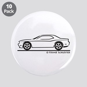 "New Dodge Challenger 3.5"" Button (10 pack)"