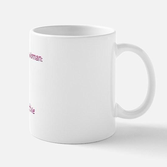 Qualities in a woman Mug