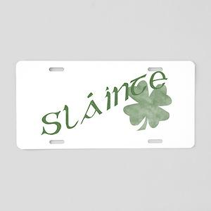 Slainte Aluminum License Plate