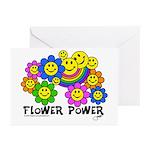 flowerpowersmileysfp Greeting Cards