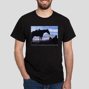 Cowboy Sunset Black T-Shirt