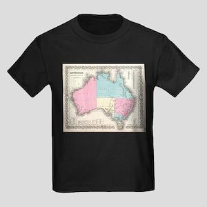 Vintage Map of Australia (1855) T-Shirt