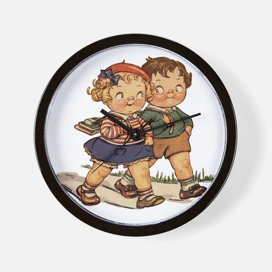 Kids Walking Wall Clock