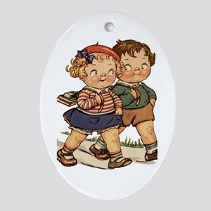 Kids Walking Ornament (Oval)
